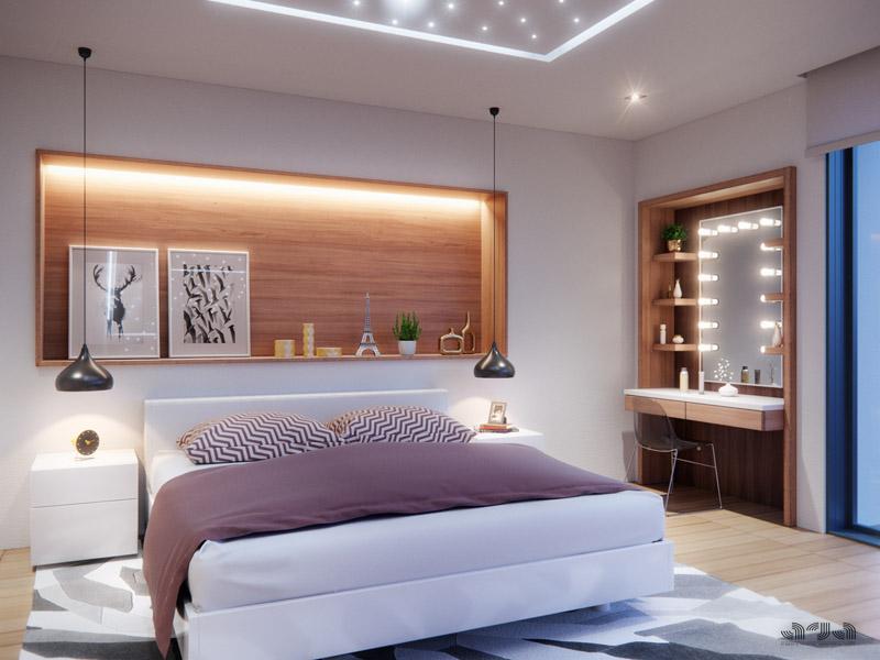 villa nadir coiffeuse + niche lit